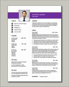 Cv For Team Leader Team Leader Resume Supervisor Cv Example Template