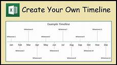 Tim Eline How To Create A Timeline Chart In Excel Youtube