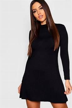 sleeve swing dress month boohoo womens high neck sleeved swing dress ebay