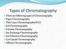 Types Of Chromatography Chromatography And Its Types