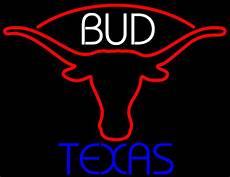 Bud Light Texas Neon Sign Bud Blue Texas Red Longhorn Neon Sign Neon