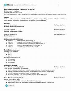 Physician Assistant Sample Resume Physician Assistant Sample Resume For Job Seekers Melnic