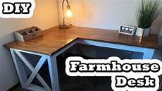 diy l shaped farmhouse desk