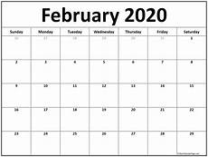 february 2020 calendar events february 2020 calendar free printable monthly calendars