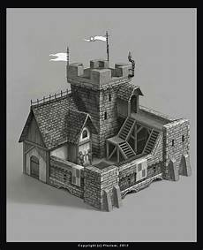 Castle Keep Design World Building Concept Structure Keep Castle Prison