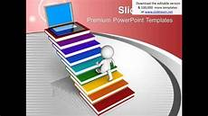 Moving Powerpoint Templates 3d Man Moving Up Stairs Success Powerpoint Templates Ppt