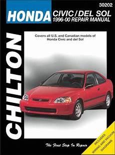 Honda Civic Honda Del Sol Repair Manual 1996 2000