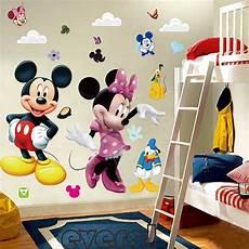 Mickey Mouse Bedroom Decor Diy Mickey Mouse Minnie Wall Sticker Boys Room