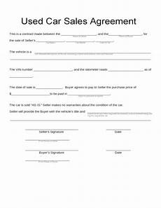 Car Sale As Is Form Blank Used Car Sales Agreement Free Download Gino Car