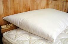 holy organics wool bed pillow thick