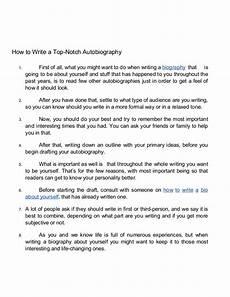 How To Write A Autobiography Essay How Do You Write An Autobiography How To Write An