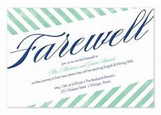 Farewell Invitation Email Farewell Stripes Party Invitations By Invitation