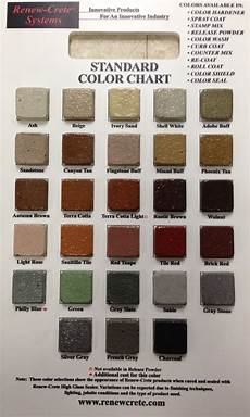 Solomon Mortar Color Chart Decorative Concrete Color Charts Sealant Depot Resources