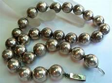 Designer Sterling Silver Necklaces Mexico Sterling Silver 925 Designer Bead Necklace