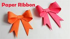 How To Fold Ribbon How To Make Paper Ribbon How To Fold A Paper Bow Easy