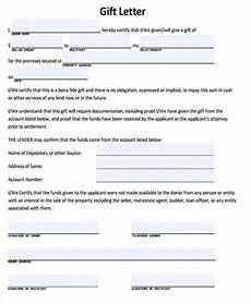Gift Certificate Letter Template Sample Gift Letter For Mortgage Amulette