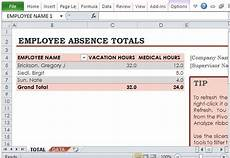 Employee Absence Template Free Employee Absence Tracker For Excel