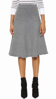 joa knit skirt grey in gray grey lyst
