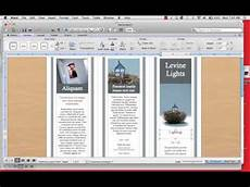 Make A Trifold Brochure In Word How To Create A Tri Fold Brochure Mp4 Youtube