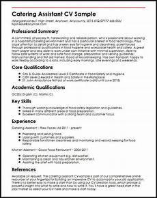 assistant cv sample catering assistant cv sample myperfectcv