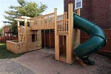 Playset Designs How To Build An Outdoor Wood Playset Of Your Dreams
