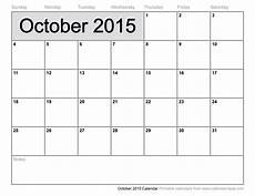 October 2015 Calendar Word Calendar 2015 October Printable Google Search Projects