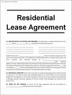 Free Rental Lease To Print Printable Sample Free Lease Agreement Template Form