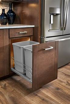 cabinet container pull out sliding trash can drawer