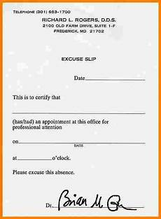 Dentist Excuse Note Fake Dentist Note Template Business