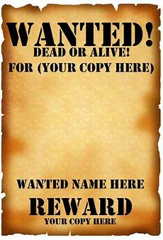 poster template word 7 free wanted poster templates pdf word