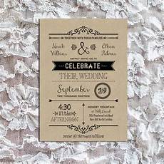 Free Diy Wedding Invitations Templates Vintage Rustic Diy Wedding Invitation Template
