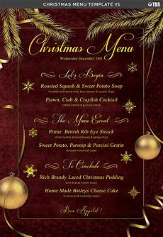 Free Blank Christmas Menu Templates Christmas Menu Template V1 35049 Flyers Design Bundles