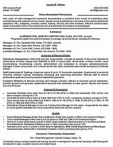 Resume Summary For Retail Reveal The Secrets Of The Best Retail Manager