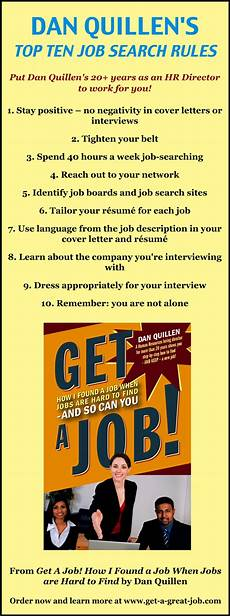Top Ten Job Search Sites Dan Quillen S Top Ten Job Search Rules Infographic A Day