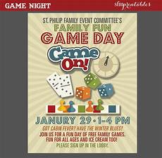Game Night Invitation Template Game Night Poster Fun Dice Template Church School Community