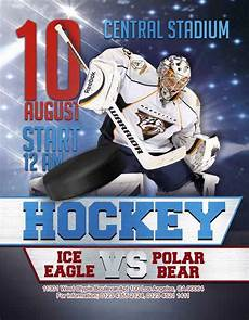 Hockey Flyer Template Free Ice Hockey Flyer Template For Ice Hockey Games And
