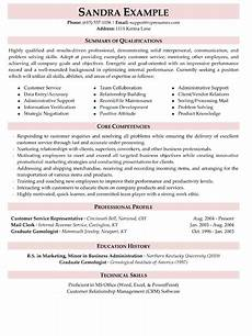 Resume Qualifications For Customer Service Resume Summary Of Qualifications Customer Service Top