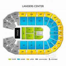 Landers Center Seating Chart Map Landers Center Tickets Landers Center Seating Chart