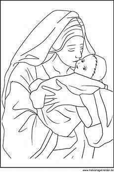 und das jesuskind weihnachtsbild und malvorlage