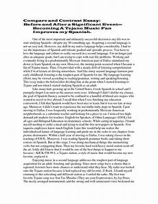Examples Of Contrast Essays Compare And Contrast Essay