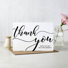 Business Thank You Cards With Logo Pack Of 10 Personalised Wedding Thank You Cards By Here S