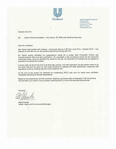 Recommendation Letter Unilever Recommendation Letter October 2018