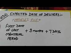 Estimated Date Of Delivery Chart Calculation Of Expected Date Of Delivery Youtube