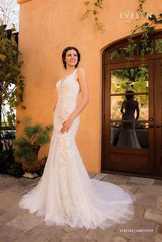 amethyst s182102 fit flare tulle wedding gown with