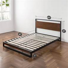 zinus suzanne metal and wood platform bed with