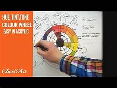 hue tint tones the color wheel acrylic painting youtube