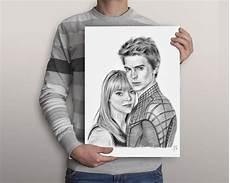 desenho casal retrato duplo personalizado no elo7