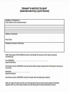 Tenant Notice To Quit Template Free 5 Notice To Quit Forms In Word Pdf