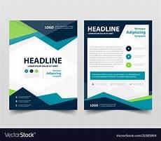 Pamphlet Design Template Pamphlet Leaflet Business Template Layout Flyer Vector Image
