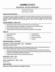 Sales Manager Sample Resumes Regional Sales Manager Resume Example Nutrition Fitness